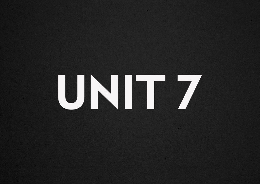 corporate branding for Unit 7