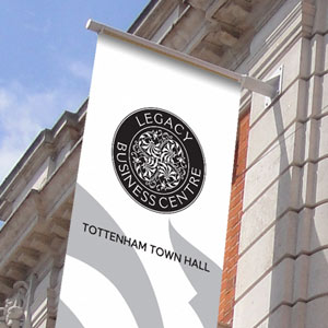 tottenham town hall logo identlty and signage