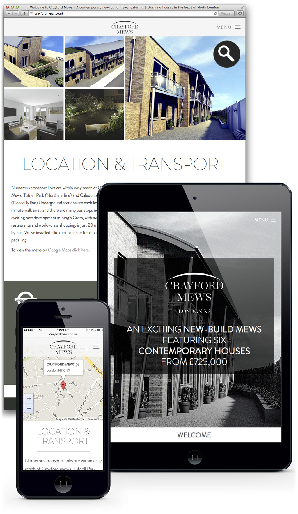 crayford mews responsive website